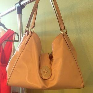 Coach Shoulder Bag, cream/tan